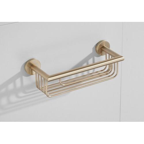 Saniclear Brass shampoo houder / doucherek 30cm geborsteld messing mat goud