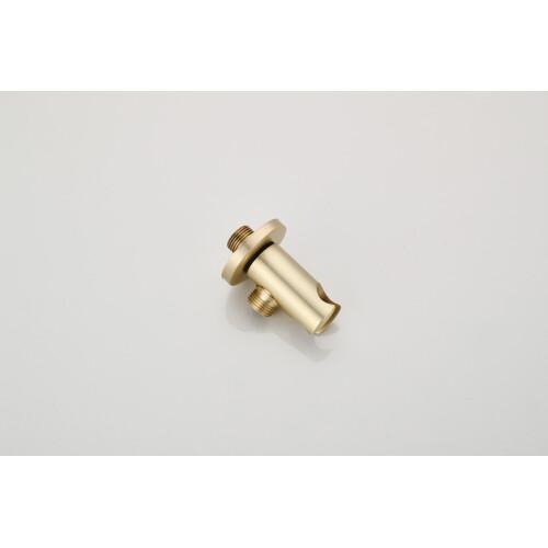 Saniclear Brass wand aansluitbocht geborsteld messing / mat goud