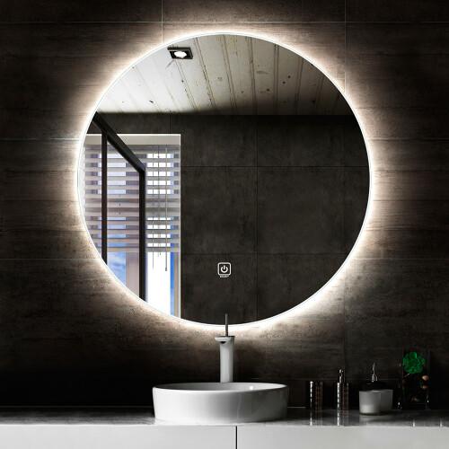 Saniclear Circle ronde spiegel met LED verlichting 100cm incl. spiegelverwarming