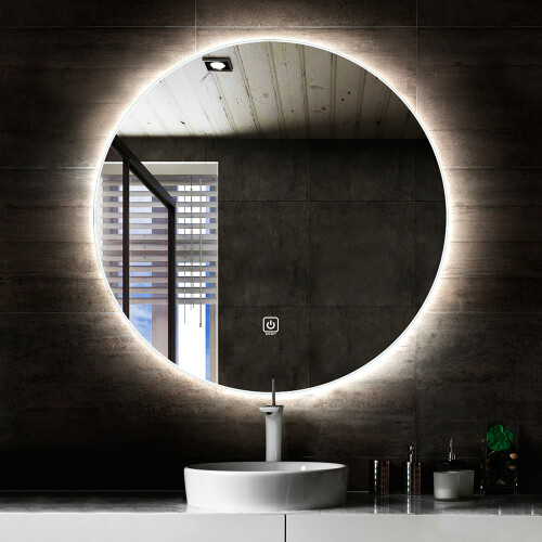 Saniclear Circle ronde spiegel met LED verlichting 70cm incl. spiegelverwarming