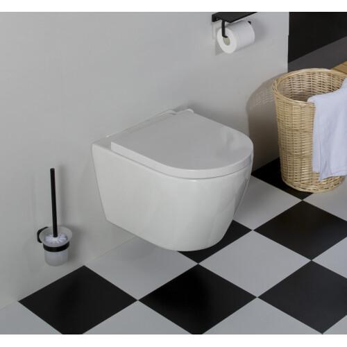 Saniclear Jama rimfree hangend toilet met dikke softclose zitting