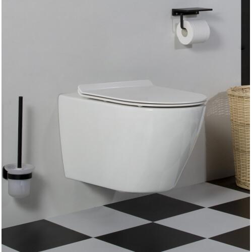 Saniclear Jama rimfree hangend toilet met platte softclose zitting