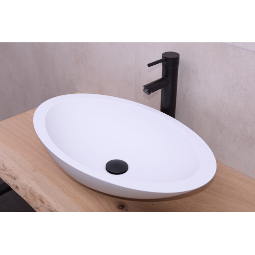 Saniclear Orona solid surface waskom 59x35cm mat wit
