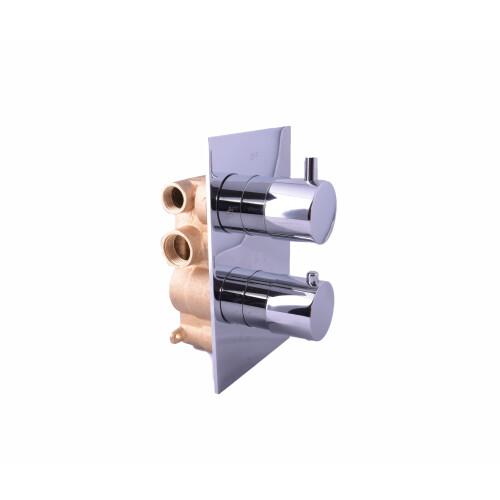 Saniclear Round inbouw thermostaat met inbouwdeel