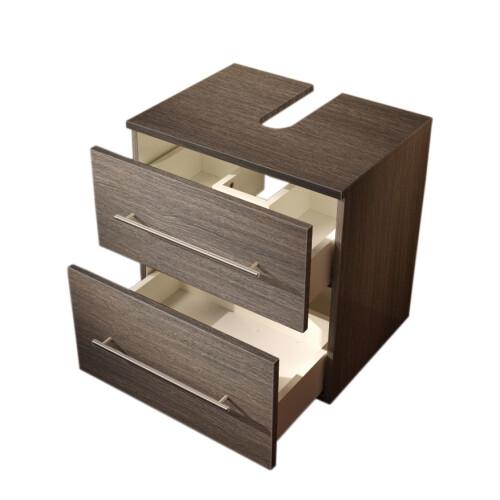 Saniclear Universal badkamer kast op poten 55x41.6x63.6cm antraciet houtnerf