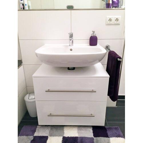 Saniclear Universal badkamerkast op poten hoogglans wit 55cm