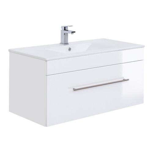 Saniclear Viva badkamermeubel 100cm hoogglans wit