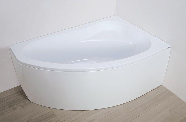 Plazan Ekoplus badkuip met kap 150x100cm wit rechts   BS4445