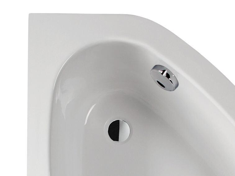 Plazan Ekoplus hoekbad met zitvlak 150x85cm wit rechts   BS4451