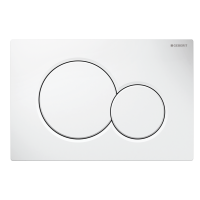 Geberit Sigma 01 wit drukplaat