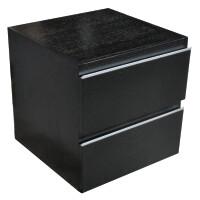 Mueller Modula ladekast 45x45cm houtnerf zwart