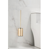 Saniclear Academy toiletborstel geborsteld messing mat goud