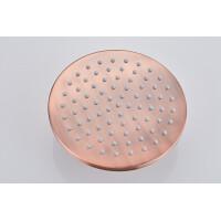 Saniclear Copper hoofddouche 20cm geborsteld koper