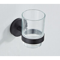 Saniclear Nero glashouder mat zwart