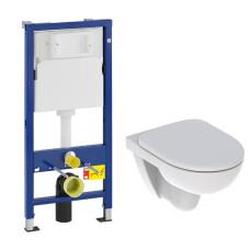 Geberit UP100 toiletset met Geberit 280 Rimfree toilet en softclose zitting