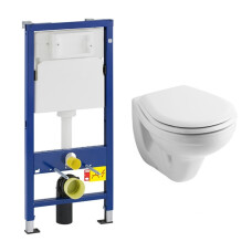 Geberit UP100 toiletset met Geberit Econ wandcloset en zitting