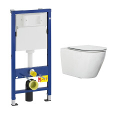 Geberit UP100 toiletset met Saniclear Jama randloos toilet en softclose zitting