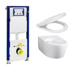 Geberit UP320 toiletset met Geberit iCon Rimfree Compact en softclose zitting