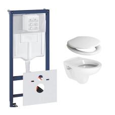 Grohe Rapid toiletset met Plieger Compact toilet en softclose zitting
