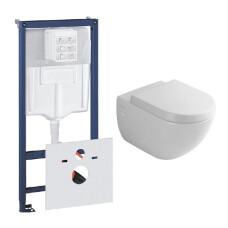 Grohe Rapid toiletset met Villeroy en Boch Subway wandcloset en softclose zitting