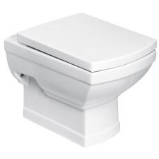 Kerra Kleopatra hangend toilet met zitting wit 35x51cm