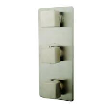 Mueller Cube afbouwdeel 3-weg thermostaat kraan RVS-look