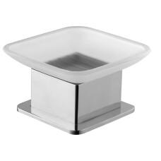 Mueller Cube vrijstaande zeepschaal chroom