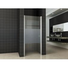 Mueller Satijn douchedeur met mat glas 80x200cm ANTI-KALK