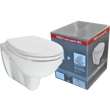 Mueller Trevi ONE PACK wc pot KIWA met zitting wit