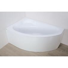 Plazan Ekoplus badkuip met kap 145x95cm wit links