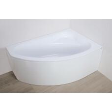 Plazan Ekoplus badkuip met kap 150x100cm wit rechts
