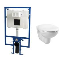 Plieger Flair Compact toiletset met Plieger Basic toilet en standaard zitting