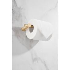 Saniclear Academy toilet rolhouder geborsteld messing mat goud
