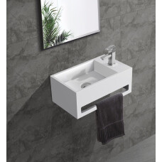 Saniclear Bali solid surface fontein 36x20cm rechts