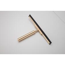 Saniclear Brass badkamer raam wisser 25cm geborsteld messing mat goud