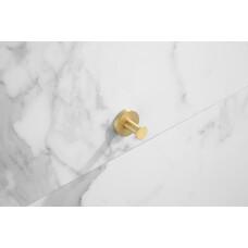 Saniclear Brass haak handdoekhaak geborsteld messing mat goud