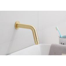 Saniclear Brass inbouw toiletkraan geborsteld messing / mat goud