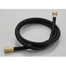 Saniclear Brass Pro doucheslang geborsteld messing mat zwart