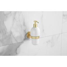 Saniclear Brass zeepdispenser geborsteld messing mat goud