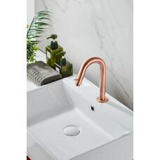 Saniclear Copper gebogen fonteinkraan geborsteld koper