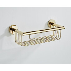 Saniclear Dorado shampoo houder / doucherek 30cm goud
