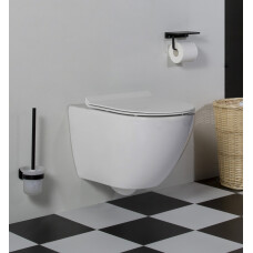 Saniclear Jama compact rimfree hangend toilet met platte softclose zitting