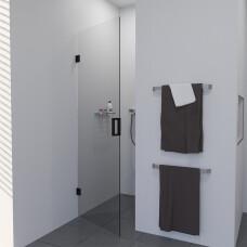 Saniclear Modern profielloze douchedeur 90cm met zwarte scharnieren