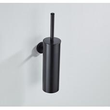 Saniclear Nero toiletborstel met wandhouder mat zwart