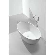 Saniclear Stilo vrijstaand bad solid surface mat wit 178x92x55cm
