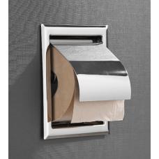 Saniclear Talpa inbouw toiletrol houder met klep chroom