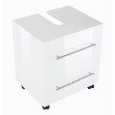 Saniclear Universal badkamer kast op wielen 55x41.6x63.6cm wit