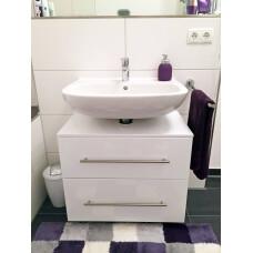 Saniclear Universal badkamerkast op wieltjes hoogglans wit 55cm