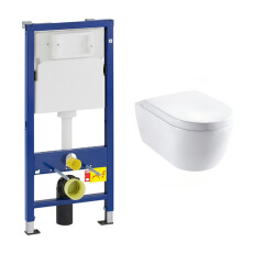 Geberit UP100 toiletset met Lambini Sub Compact en softclose zitting