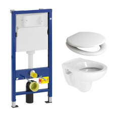 Geberit UP100 toiletset met Plieger Compact toilet en softclose zitting